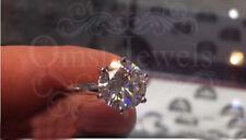 4.60CT Round Brilliant Moissanite Sparkle Engagement Ring 18K Real White Gold
