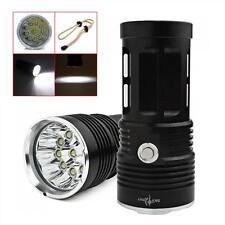 25000LM SKYRAY 10 x CREE XML-T6 LED Flashlight Torch 4 x 18650 Hunting Lamp