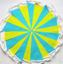 Tour De Yorkshire Yellow Turquoise Blue Fabric Bunting Bundle 20ft /6m TDY 2018