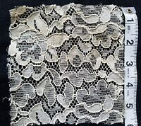 Vintage French Lace Flower Inset Trim Applique Sewing Costume Doll A28