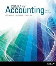 Company Accounting 10th Edition By Leo, Knapp, McGowan, Sweeting 9781118608173