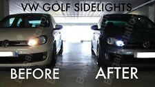 VW GOLF MK4 MK5 MK6 BRIGHT WHITE LED SIDE LIGHT BULBS ERROR FREE GTD GTi R32