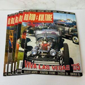 Lot Of 6 Traditional Rod & Kulture Hot Rod Magazines 2005-2014
