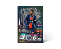 TOPPS Match Attax 20/21 Neymar SILVER Limited Edition LE4S  2020/21 PSG