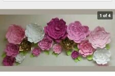 """18 HANDMADE GIANT PAPER FLOWERS UP TO 18"""" PERFECT FOR WEDDING DECOR AND PARTIES"""