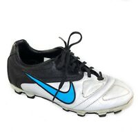 Nike CTR360 Boy's Youth Soccer Cleats Black Silver Blue Shoes Size 5Y
