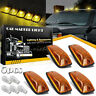 5X Amber Cover Bases Cab Marker Roof Running Light For Chevy GMC C/K 1500 2500