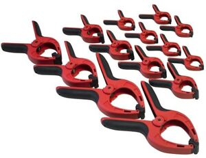 Amtech S2956 Spring Clamp Set, Clear - 14pc Pro Clamps Assorted Size Heavy Duty
