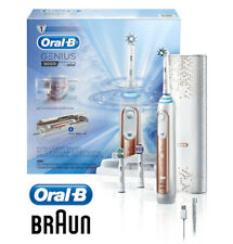 Oral-B Genius 9000 Electric Rechargeable Toothbrush Powered By Braun, Rose Gold