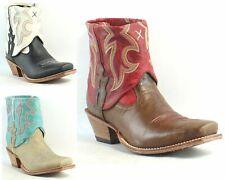 Twisted x para mujer Steppin 'Out Puño de cuero tobillo botas de vaquero, occidental