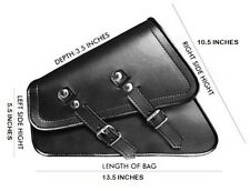 NEW Harley Style Sportser Solo Swingarm Synthetic Leather Side bag