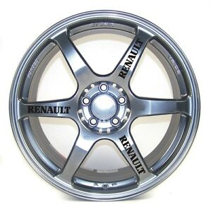 RENAULT WHEEL /ALLOY DECALS - STICKERS   X 12