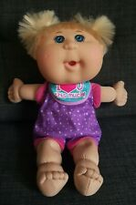 CABBAGE PATCH DOLL kid BLONDE BUNCHES baby JAKKS blue eyes PLAY ALONG