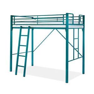 King Single Loft Bed with Ladder Base