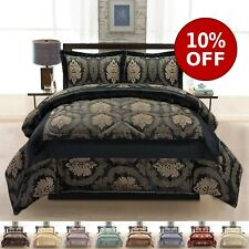 3 PCs Quilted Heavy Jacquard Bedspread Bed Throw Comforter Set Double King Sizes