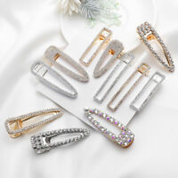 Bling  Shiny Luxury Crystal Hairgrip Metal Barrette Hair Clips Pearl Hairpins