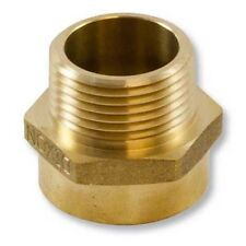 "Brass Hex 1"" Female NPT to 1"" Male NPSH Fire Hose Adapter"