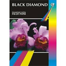 "Black Diamond Satin 7x5"" Professional Grade Photo Paper 260gsm - 50 Sheets"