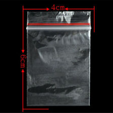 200x Small Zip Lock Plastic Bags Reclosable Resealable Zipper New 4cmX6cm