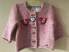 Giesswein Baby Red Button-down Cotton Sweater Size 68/6-9 Months