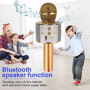 Bluetooth Mikrofon Tragbares Handmikrofon für Kinder und Erwachsene Karaoke DHL