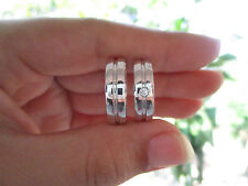 .04 Carat Diamond White Gold Wedding Rings 14K codeWD57 (MTO)  sepvergara