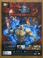Fist of the North Star Ken's Rage 2 Xbox 360 PS3 2012 Print Ad/Poster Official