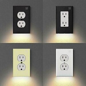 Outlet Wall Plate With LED Night Lights - no Batteries or Wires Wall EU Power