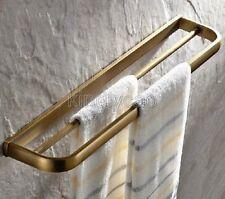 Antique Brass Wall Mounted Bathroom Double Towel Bar Rack Holder Kba173