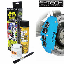 SKY BLUE E-Tech Brake Caliper Paint Kit Also For Drums Car ETECH Engine Bay