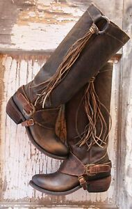 AUTHENTIC Junk Gypsy SOUTHBOUND ~ Lane Boots Women Sz 7.5 tassel harness riding