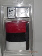 "NEW NIKE 3 IN 1 WEB PACK GOLF BELT - One size fits all up to 42"" - Multi Colors"