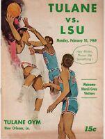 1969 Tulane vs LSU Program Pistol Pete Maravich 66 Points