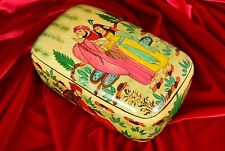 Vintage Wooden Lacquer Jewelry Gift Trinket Keepsake Treasure Chest Box