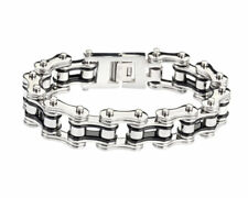 "Biker Chain Bracelet Stainless Steel 3/4 "" Wide 8.5"" Harley OCC West Coast"