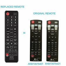 New Replaced Sound bar Remote AKB73575401 AKB73575421 for LG SB NB3520A NB3250