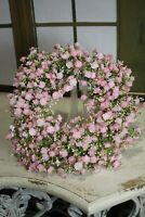 Künstlicher Kranz Blütenkranz Türkranz Rosa Dekoration Frühling 30cm NEU