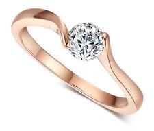 Solitaire Rose Gold VVS1 Fine Diamond Rings