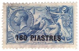 (I.B) Lebanon Postal : British Levant 180pi on 10/- OP