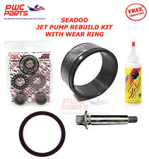 SeaDoo Jet Pump Rebuild Kit Wear Ring Impeller Shaft Seal Oil 580 650 GT GTS GTX