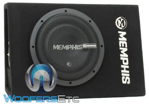 """MEMPHIS CSA110E 10"""" SUB 700W SHALLOW SUBWOOFER IN TRUCK SEALED BOX ENCLOSURE NEW"""