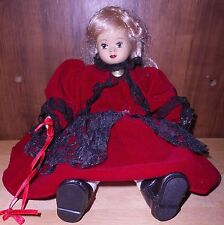 Little Girl In Red Velvet and Black Lace Dress. Reg. No. PA-5669