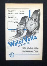 C773 - Advertising Pubblicità- 1953 - WYLER VETTA OROLOGIO INCAFLEX