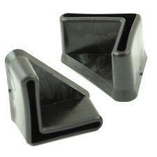"Pack of 10 x 1""x1"" - 25 x 25 x 3mm Angle Iron Black Ferrules End Caps / Feet"