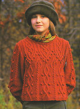 """Celtique Knotwork & Arrowhead câble à court ou long pull tricot motif 36-48 """""""