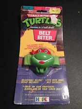 1988 Teenage Mutant Ninja Turtle Belt Biter, Raphael, New in Package