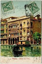 1901 ? Venezia - Palazzo Ca' D'oro, gondola dest. Bastia Corsica FP COL VG ANIM