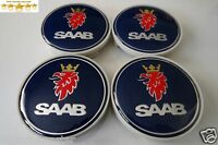 saab awheel CENTRE hub Caps SET 4pcs 63MM for SAAB alloy 9-3 9-5 900 93 95 9000