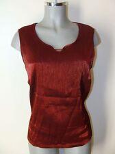 Satin-Top Rot metallic Marke Lady Bexleys Gr.44 75% Viskose mit Applikation