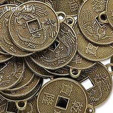 Wholesale Antiqued Brass Chinese Coin Charms Pendants ~ Feng Shui